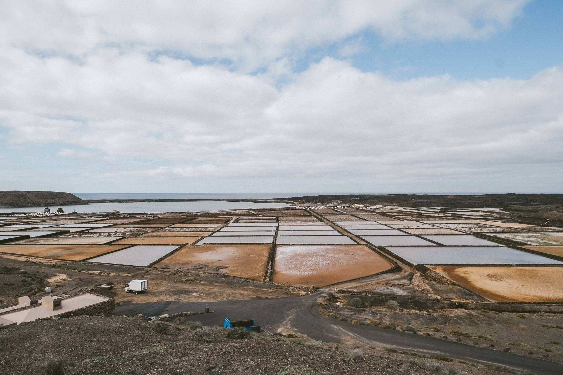 Salt fields on Canary Islands