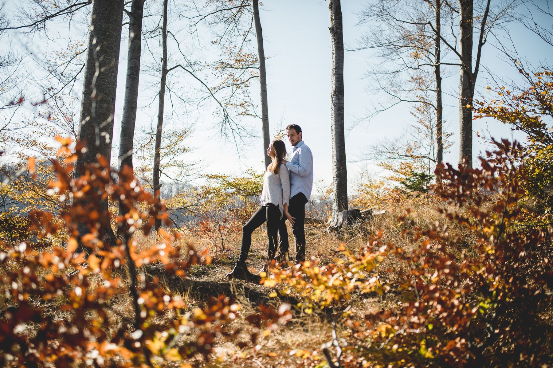 Couple love in forrest
