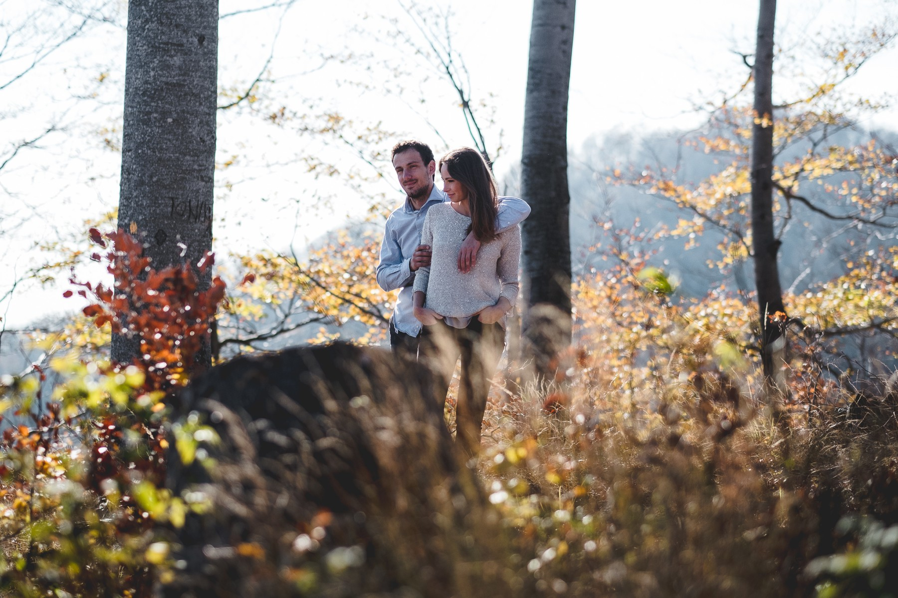 Engagement photo session - mountain Sljeme, Zagreb