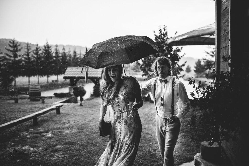Rain on wedding